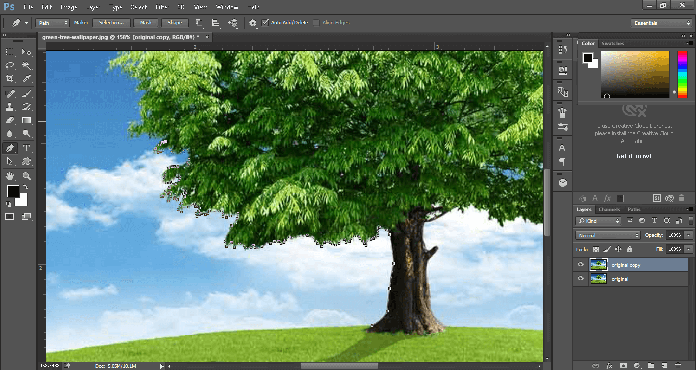 use pen tool for clipping path service