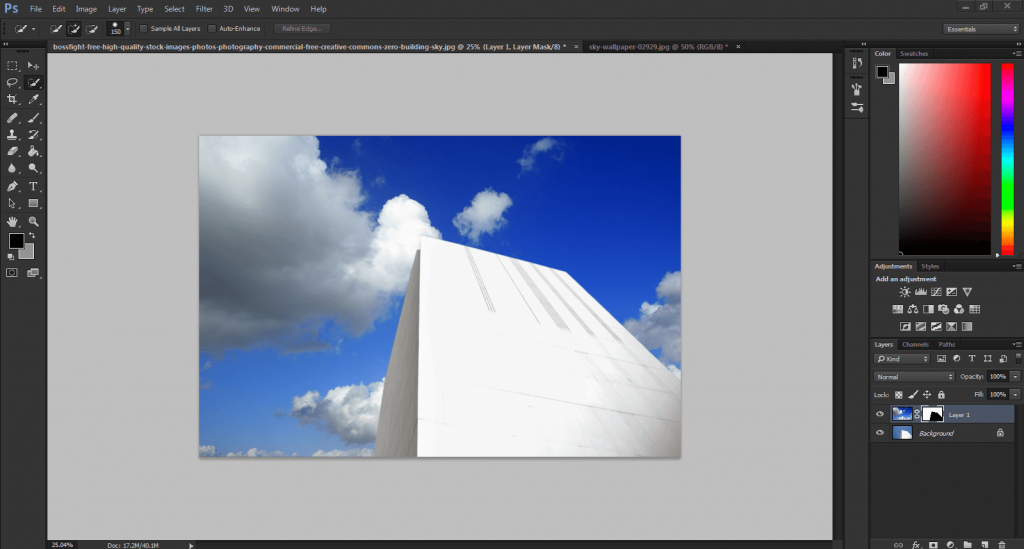 how to change the sky background