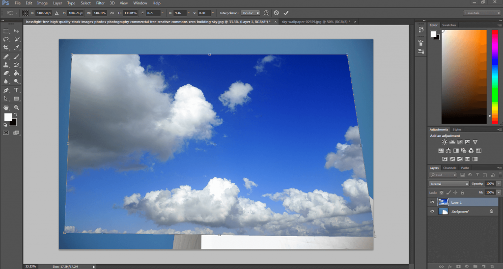 how to change color of sky in photoshop