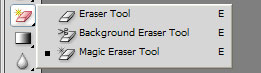 Remove background using eraser tool
