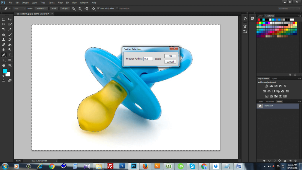 clipping path Photoshop CS6