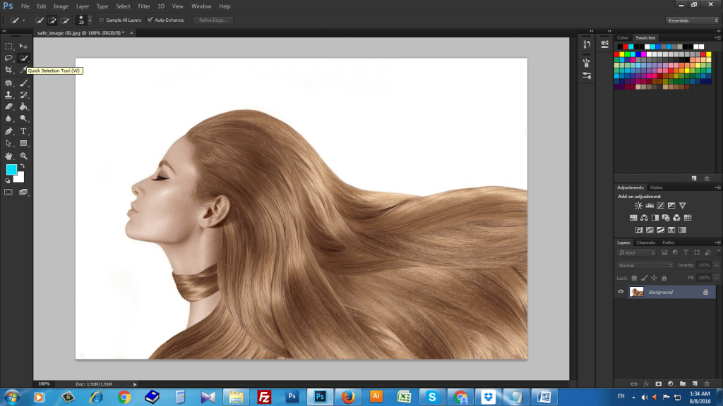 How To Change Hair Color In Photoshop With The Help Of Color