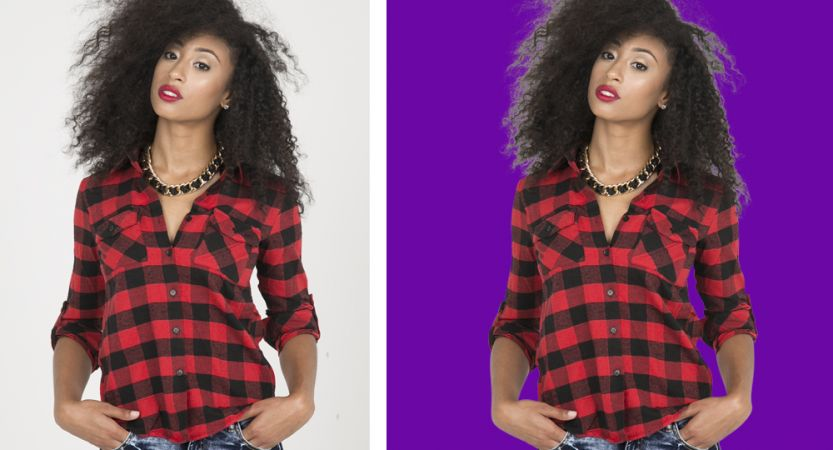 Learn Photoshop Hair Masking to Remove Background from Model Image